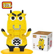 LOZ Blocks Brick Heads Figure plastic cute Building Blocks toys bricks educational Action Figures Toys Children