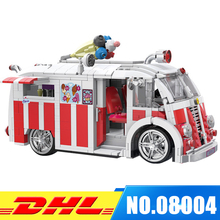 XINBAO 08004 1000Pcs Genuine Technic Series The Ice Cream Car Building Blocks Bricks Set Children Educational Toys Model Gifts