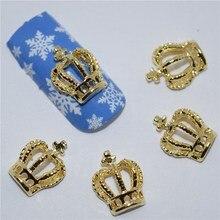 10 шт. 3d ногтей ювелирные украшения ногтей блеск горный хрусталь для маникюра золотая корона дизайн ногтей принадлежности инструменты # 304(China)