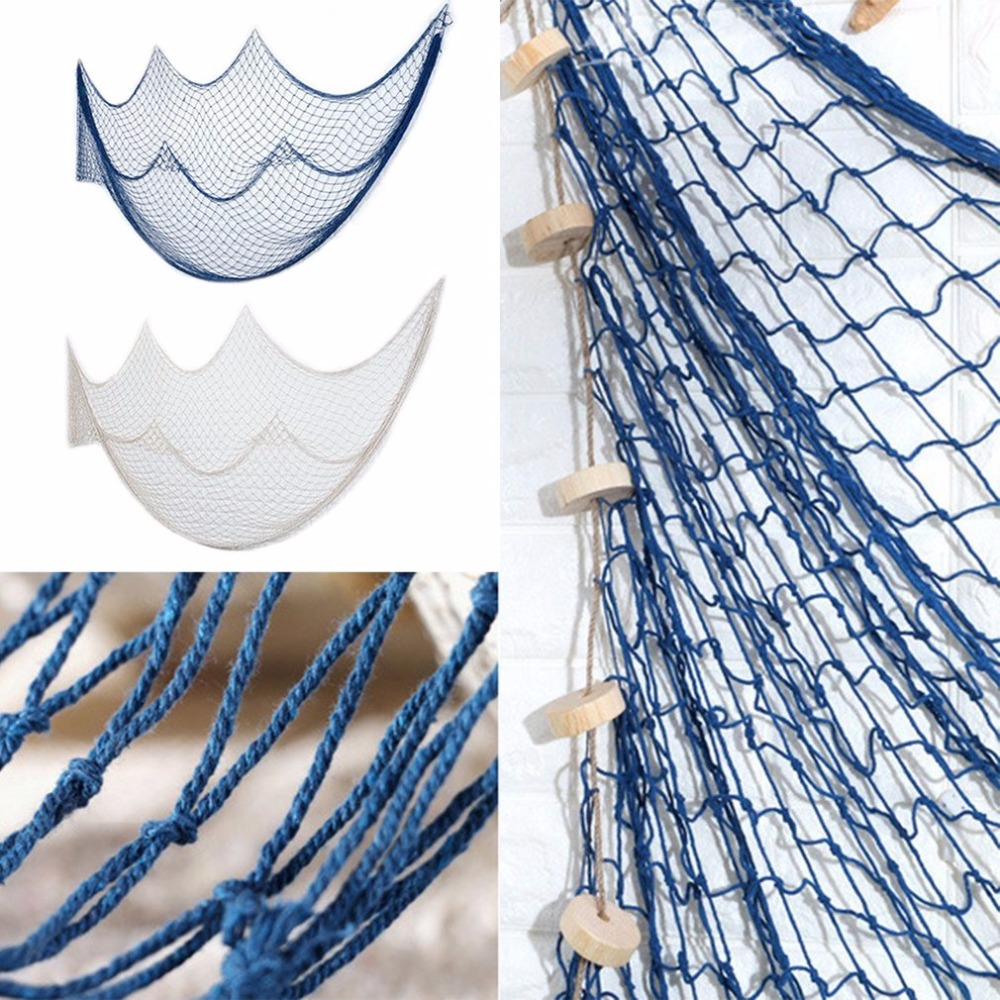 Restdealsmediterranean style decoration fishing net mediterranean style decoration fishing net living room wall hanging stickers backdrop decoration home furnishing adorment amipublicfo Gallery