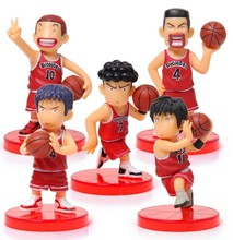 Japanese Anime Slam Dunk Shohoku basketball team PVC Action Figures Dolls Boys Toys Doll Kids gift 5pcs/set zy076(China)