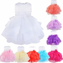 Infant Baby Flower Girls Dress Ruffle Layered Wedding Bridesmaid Formal Pageant Princess Party Easter Summer Birthday Tutu Dress
