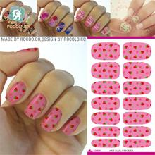 Nail Art Decorations Full Cover Water Transfer Foil Nail Sticker strawberry Design Beauty Wraps Tools Stickers Decals Patch(China)