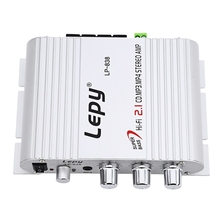 Lepy LP-838 Mini Hi-Fi 2.1 Car 3 Channels Amplifier MP3 MP4 Stereo Player Audio Auto Sound Amplifier  Subwoofer