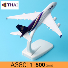 16cm Alloy Metal Air Thai A380 Airlines Aircraft Airbus 380 Airways Airplane Model Plane Model W Stand Gift(China)