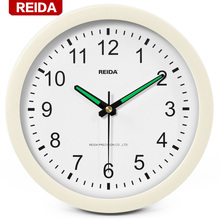 REIDA Brand 8 Inch Luminous Wall Clock Creative Fashion Home Decor Clock Super Quiet Bedroom Living Room Clock Modern Design