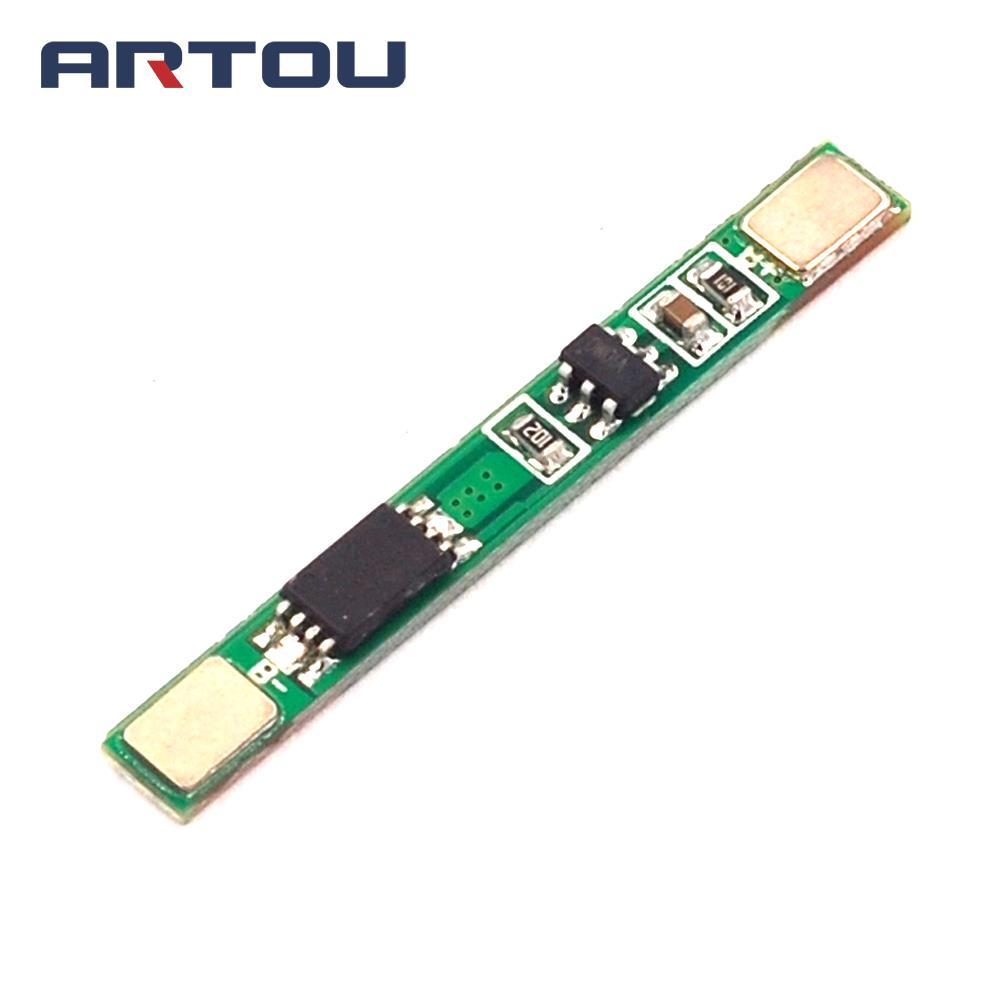 2PCS 1S 3.7V 4A li-ion BMS PCM 18650 Battery Protection Board PCB for 18650 lithium ion li Battery Double MOS