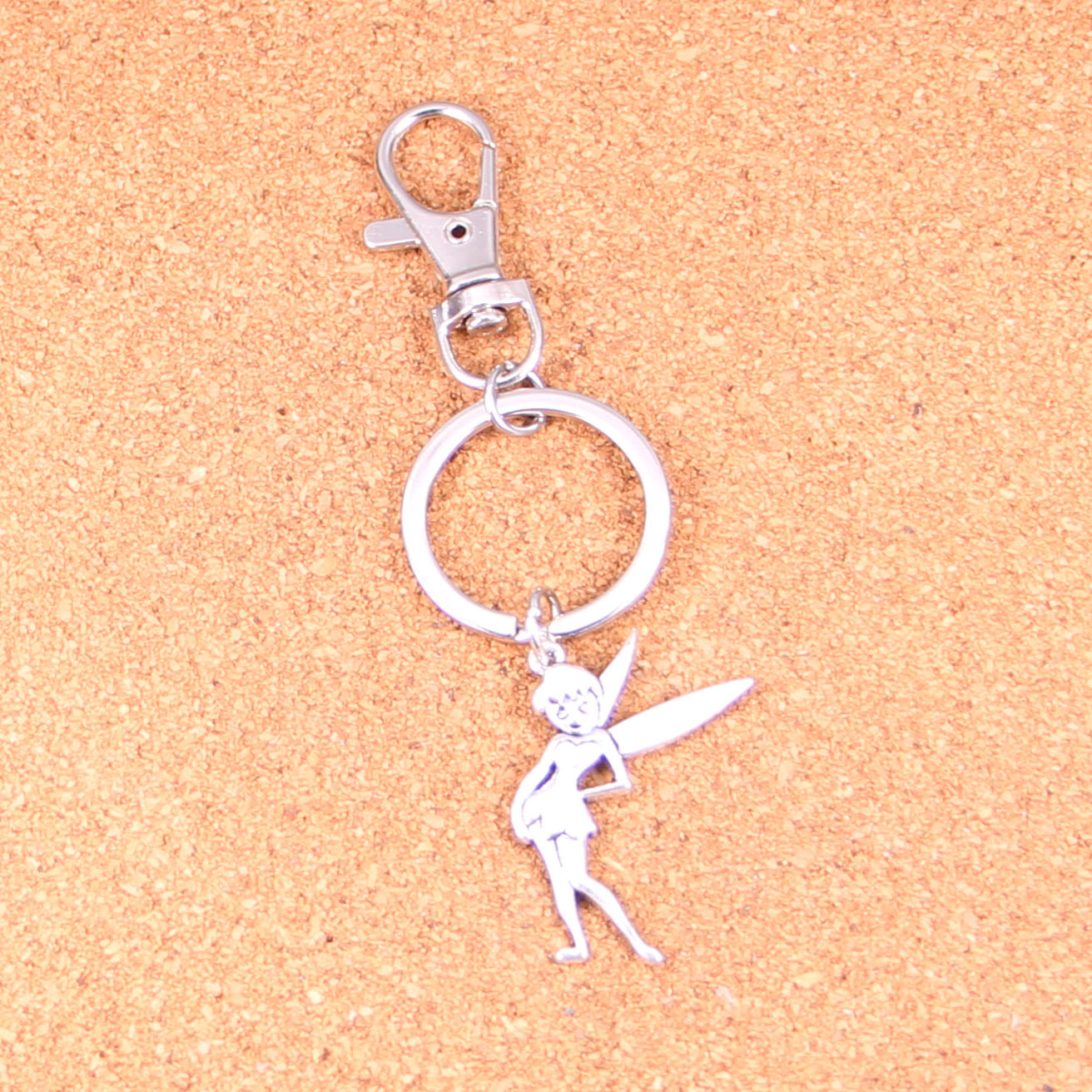 Clasp Charms Make It With Beads Silver Tinkerbell Fairy Clip On Charm Charms