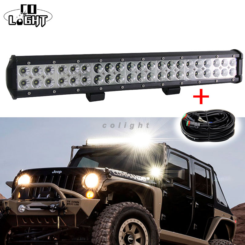 CO LIGHT Double Rows 20 126W LED Light Bar Combo/Spot/Flood Beam For Off Road 4X4 Truck Tractor Boat SUV ATV LED Work Light Bar<br><br>Aliexpress