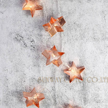 Battery Powered 20Copper Star Cookie Cutter String Lights LED Fairy Lights Decoration Light for Festival Christmas Party Wedding(China)