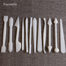 Facemile 12pcs/set Gift Fondant Sugarcraft Decorating Pastry Flower Modelling Carving Sculpting DIY Tools Set Kit 04024(China)