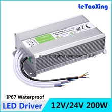 AC DC 24V 200W LED Driver Transformers Waterproof Lighting Transformer 12V 200A Power Supply Adapter(China)