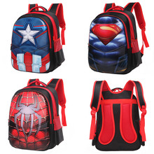 3D Spiderman Captain America Superman Children School Bags Schoolbag Kindergarten Preschool Elementary School Backpacks for Boys