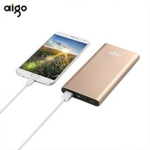 Buy Hot sale Aigo power bank 10000mah portable quick charge power bank fast usb charger external battery pack cellphone powerbank for $32.85 in AliExpress store
