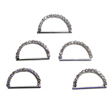 New 20mm bar silver rhinestone D ring shoes bags garments fabric ribbon gift buckles ornament accessory 120pcs lot free shipping(China)
