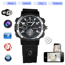 2017 The First Remote Monitoring Wifi Camera Smart Watch Unique Design Hd720P CCTV Camera Moverable Wearable Device for Driver(China)