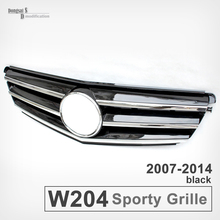 Mercedes W204 Grill Replacement AMG Styling ABS Front Bumper Grille for 2007 - 2014 C180 C200 C250 C300 C350