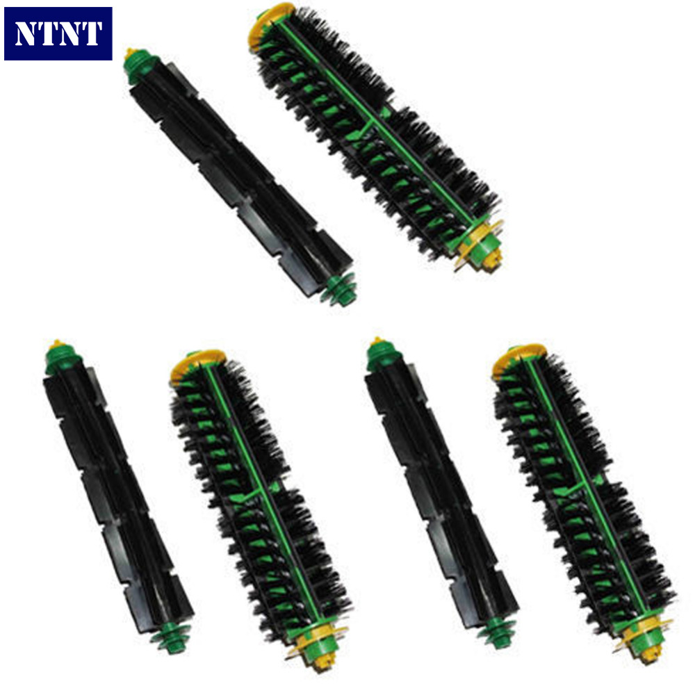 NTNT Free Post New 3 x Bristle Brush + Flexible Beater Brush for iRobot Roomba 500 Series 550 560<br>
