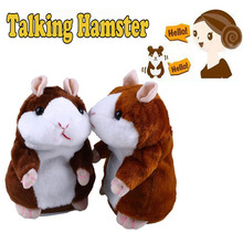 Talking Hamster Sound Record Repeat Stuffed Plush Animal Kids Child Toy