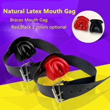 Buy top latex open mouth gag ball bdsm bondage harness fetish wear sex slave sexy games erotic toys adult games sex toys couples