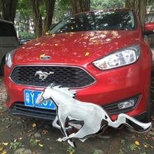 New 3D Metal 20.5cm Running Horse Car Sticker Emblem Badge Chrome Logo Decal Car Styling Ford MUSTRNG Ferrari Car Window