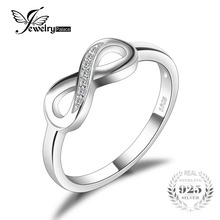 JewelryPalace Infinity Forever Love Anniversary Cubic Zirconia Finger Ring For Women Genuine 925 Sterling Silver Fashion Jewelry(China)