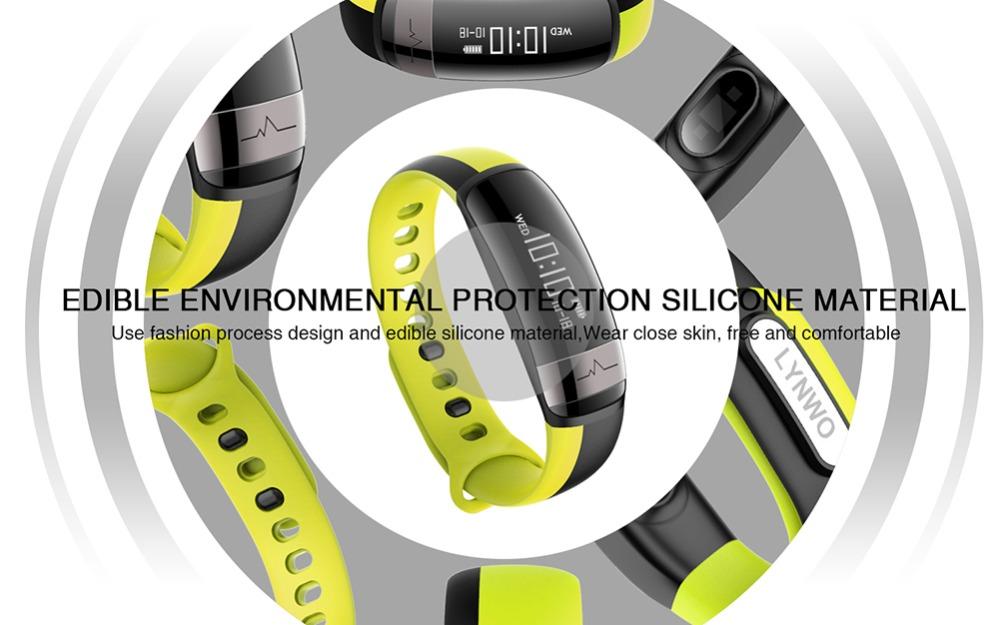 HUINIU Sport Smart Band Waterproof Bluetooth Bracelet Activity Tracker Heart Rate Monitor Smartband Message Reminder Wristbands 14