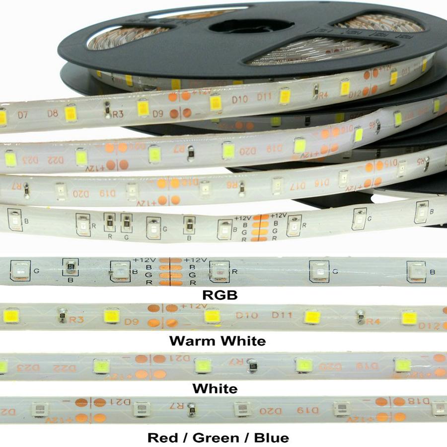 Waterproof 12V SMD 2835/3528  60Leds/m LED Strip 50cm/1m/2m/3m/4m White/Blue/RGB More Colors Flexible Light (A13,A14,A15)