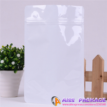 AISS-packaging for food,white ziplock bags,18x29cm,stand up pouch,bag of coffee,food saver,pet food container