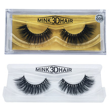 100% Handmade Real Mink Fur False Eyelashes 3D Full Strip Mink Lashes Thick Fake Eye Lashes Extension For Women Makeup Beauty(China)