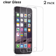 2 pcs/lot  Cold carving  Clear LCD Glass Screen Protector Film guard for Apple Iphone 4 4s 5 5S 6 6s 7 plus  SE superToughened