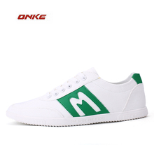 2017 Newest Easy Match Man Flat Bottom White Color Outdoor Sports Running Walking Shoes Easy Style Breathable Summer Sneaker