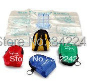 free shipping 10pcs/CPR mask mini medical training emergency first aid kit flying ring breathing mask cpr mask keychain