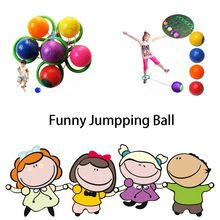 1 Pcs Kids Fitness Single Foot Skipping Ball Toy Outdoor Exercise Equitment Children Gift Kids Love Jumpping Game Outdoor Toy(China)