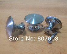 Diameter 30mm 30pcs/lot Stainless steel Satin Knob Pull Handle Kitchen Cabinet Hardware free shipping - S(China)