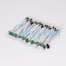 Wholesale 100pcs 9mm White Wire WS2811 IC Led pixel Module string, Non-waterproof IP30 RGB Dream color Addressable ,DC5v input