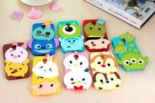 Newest 3d cute cartoon sulley stitch snow white bunny rabbit soft silicone case rubber cover for samsung galaxy S3 S4 S5