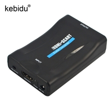 Kebidu HDMI to SCART Video Audio Upscale Converter AV Signal Adapter HD Receiver TV DVD for Samsung HTC Smartphone(China)