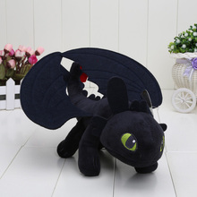 5pcs/lot Hot Movie 23cm How To Train Your Dragon 2 Night Fury Toothless Dragon Stuffed Animal Plush Doll Baby Toy
