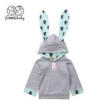 Toddler Baby Boy Girl Winter Jacket Rabbit Hoodies Outwear Snowsuit Coat Clothes(China)