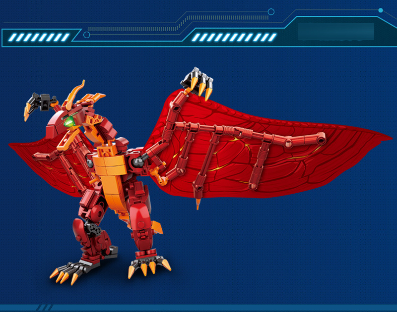 Sluban M38-B0783/B0785/B0786 King of The Monsters Godzilla Ghidorah Rodan Building Blocks 49