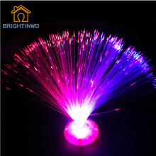 2016 Novelty Light Color Changing LED Fiber Optic Night Light Home Party Decoration Bright Glowing Lighting Nighlight Wholesale