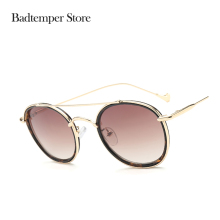 Badtemper Sunglasses Men 2017 Brand Designser Sunglasses Shades Men Sport Brown Sunglasses Men Women Punk Round Vintage(China)
