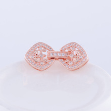 Supplies For Jewelry Fittings Flower Rhinestone lock Clasps 33*12mm Hot Sale Jewelry Connectors for women bracelets necklaces