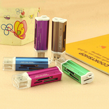 Graduation Other Usb Aluminum Multi-function Four In One & Speed High-speed Universal Tf M2 Ms Card Reader Memory Stick