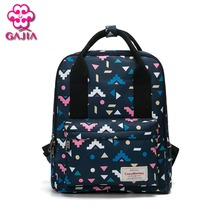 GAJIA 2017 new hot sale pop school backpacks for teens contest Generic High Quality Canvas Women's Backpack And Female Backpack