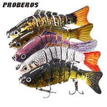 7 Segments Fishing Lure Body Details Fishing Lures Lifelike Baby with Artificial Hooks 3D Eyes Crank Fishing Baits Tackle