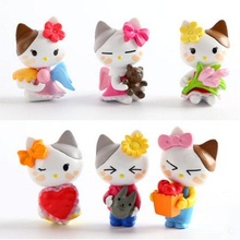 Mini 6pcs/lot Hallo Kitty Super Cute Angel PVC Action Figure Toys Set Doll Classic Collection Toys For Kids Gift(China)