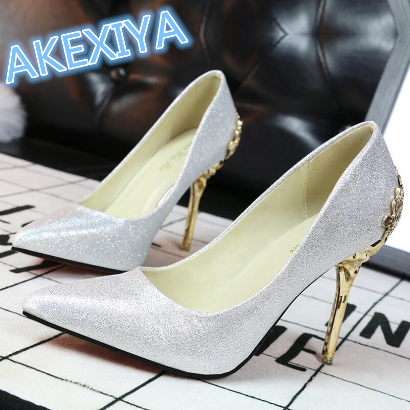 Fashion Women Shoes High Heels Pointed Women Pumps Spring Autumn Wedding Shoes Woman Sexy High Heels Zapatos Mujer 9 Colors <br><br>Aliexpress