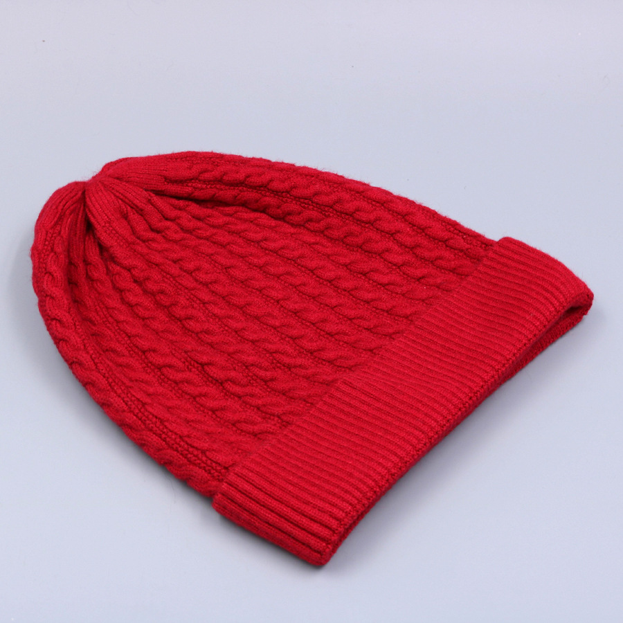 Women's Winter Hat Knitted Wool beanies Skullies Female Causal Mask Ski Thicker Warm Pompon Hats For Women  (14)